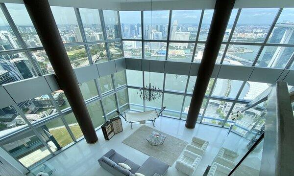Super-scaled penthouse up for sale in Marina Bay Residences